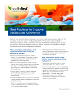 Best Practices to Improve Medication Adherence